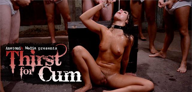 Thirst for Cum screenshot of fetish DVD with Adriana Chechik